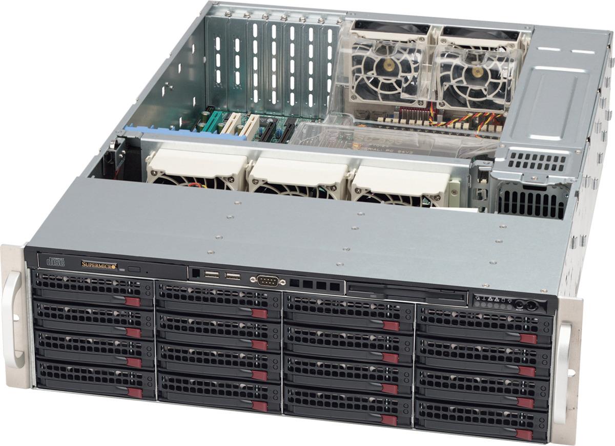лучшая цена Корпус SuperMicro CSE-836BE1C-R1K23B, черный