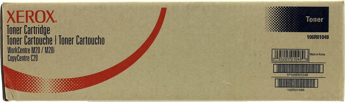 Картридж Xerox 106R01048, черный, для лазерного принтера, оригинал