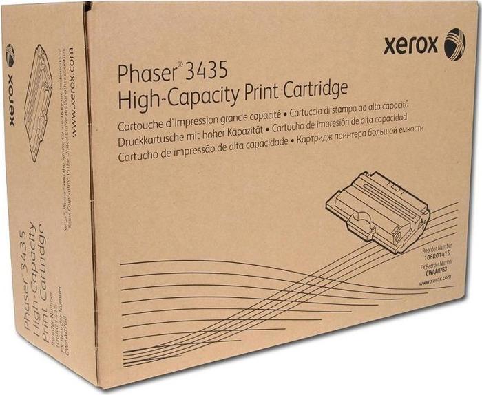 Картридж Xerox 106R01415, черный, для лазерного принтера, оригинал