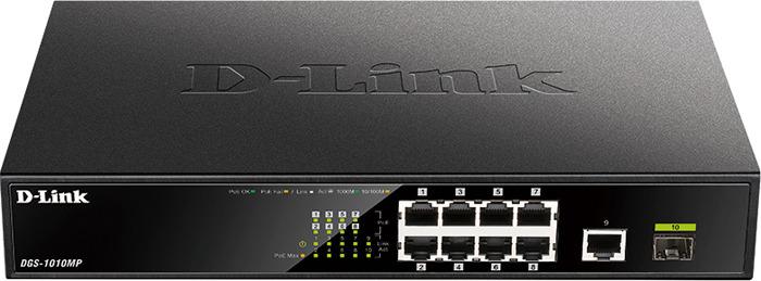 Коммутатор D-Link, DGS-1010MP/A1A