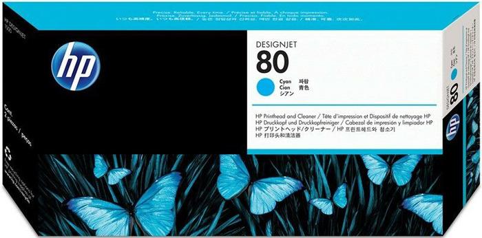 Печатающая головка HP 80 (C4821A), голубой цена