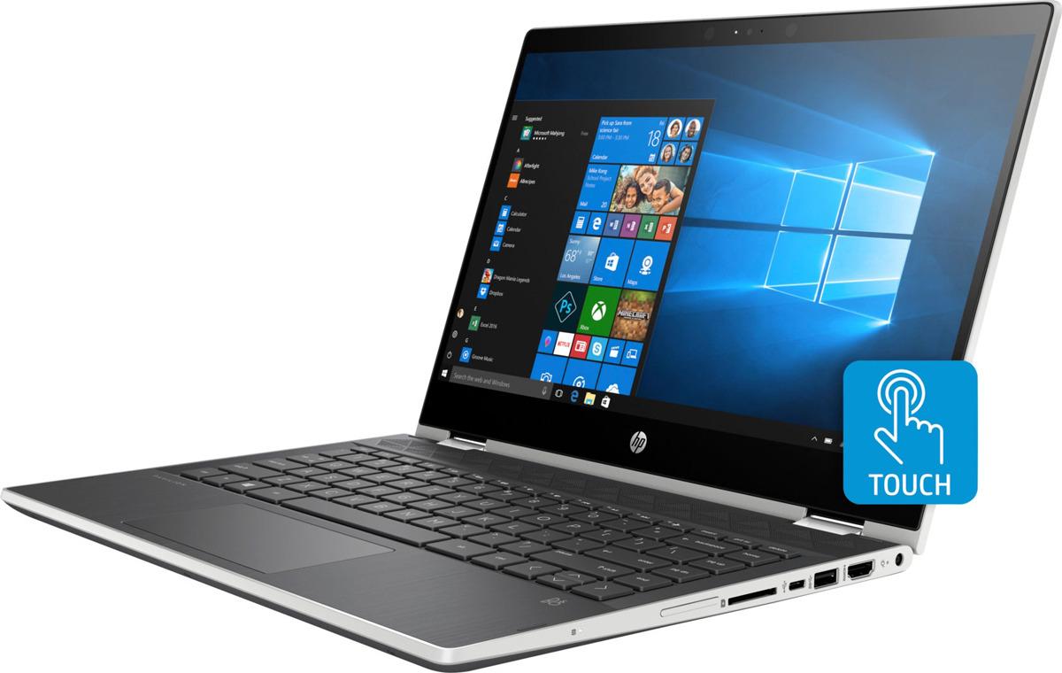 Ноутбук HP Pavilion x360 14-cd0004ur 4HA76EA, серебристый ноутбук 8гб оперативной памяти