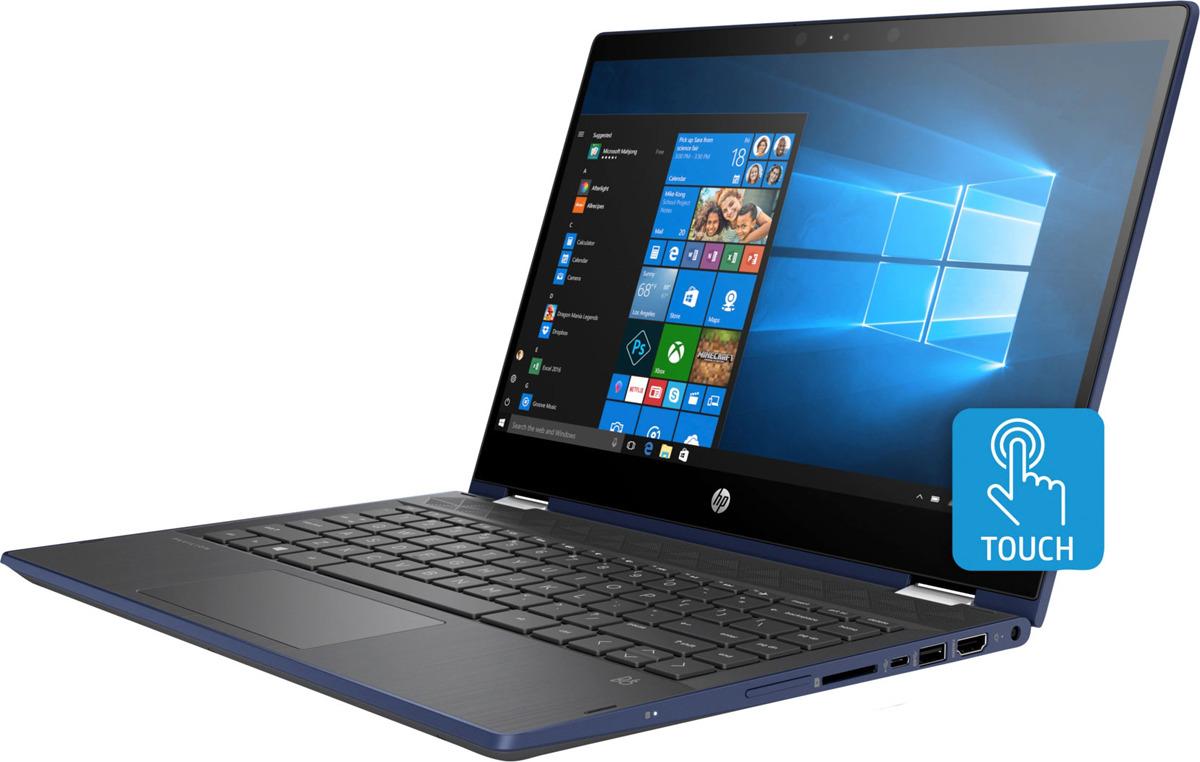 14 Ноутбук HP Pavilion x360 14-cd0006ur 4HE22EA, синий ноутбук синий