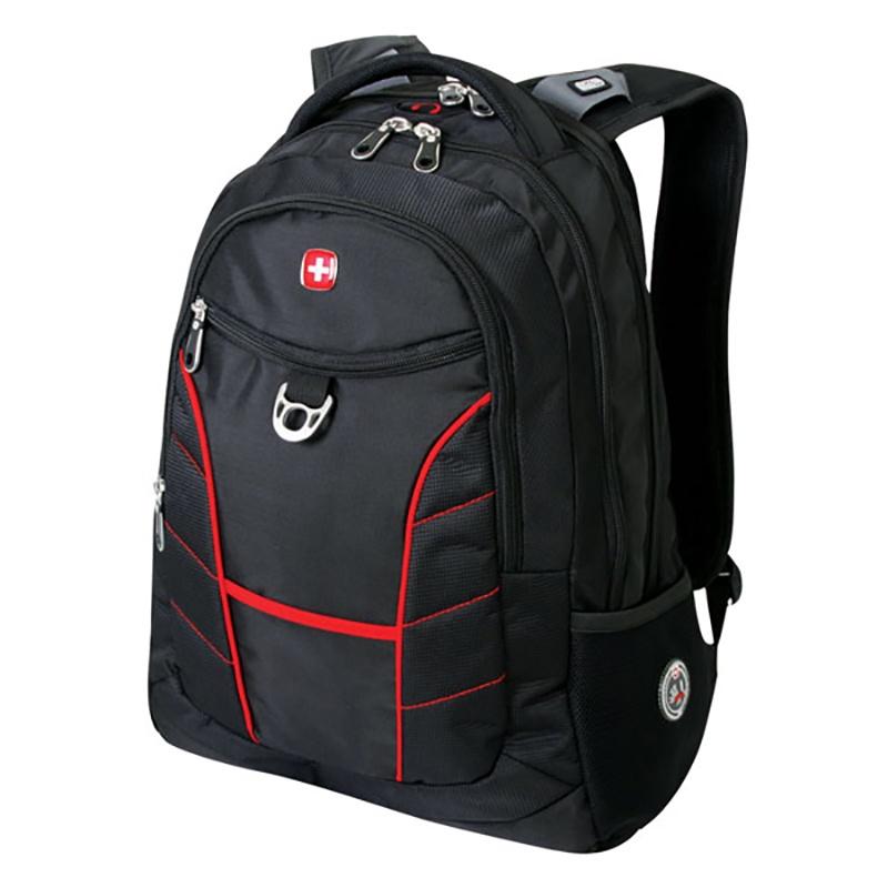 Рюкзак WENGER 1178215, черный, красный wenger wenger рюкзак для подростков 20 л чёрный красный