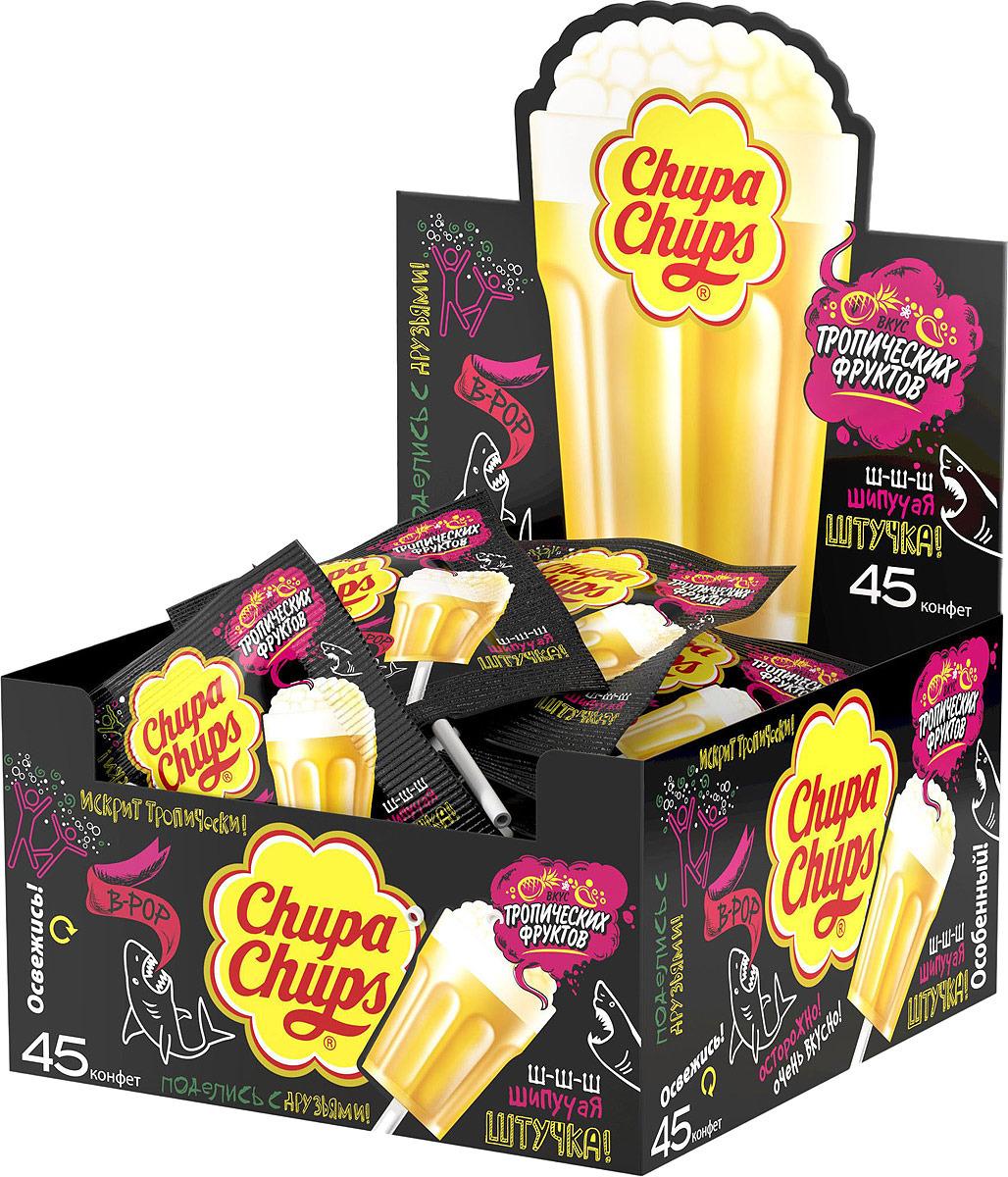 Леденец Chupa Chups B-POP, со вкусом тропических фруктов, 45 шт по 15 г леденец chupa chups b pop со вкусом тропических фруктов 45 шт по 15 г