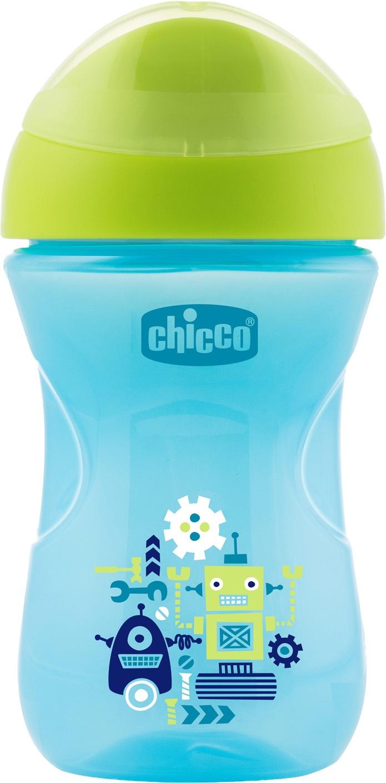 Поильник Chicco Easy Cup (носик ободок) синий