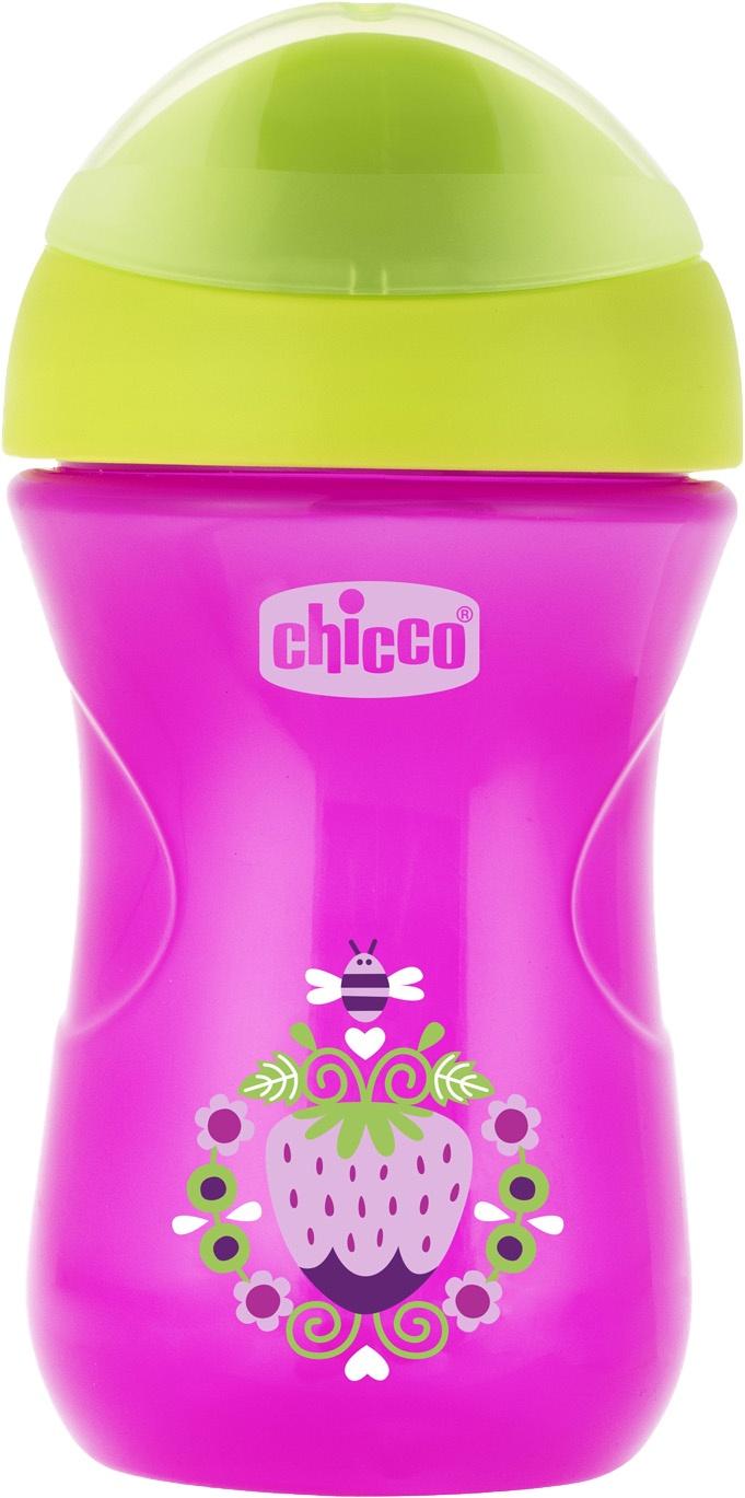 Поильник Chicco Easy Cup (носик ободок) розовый