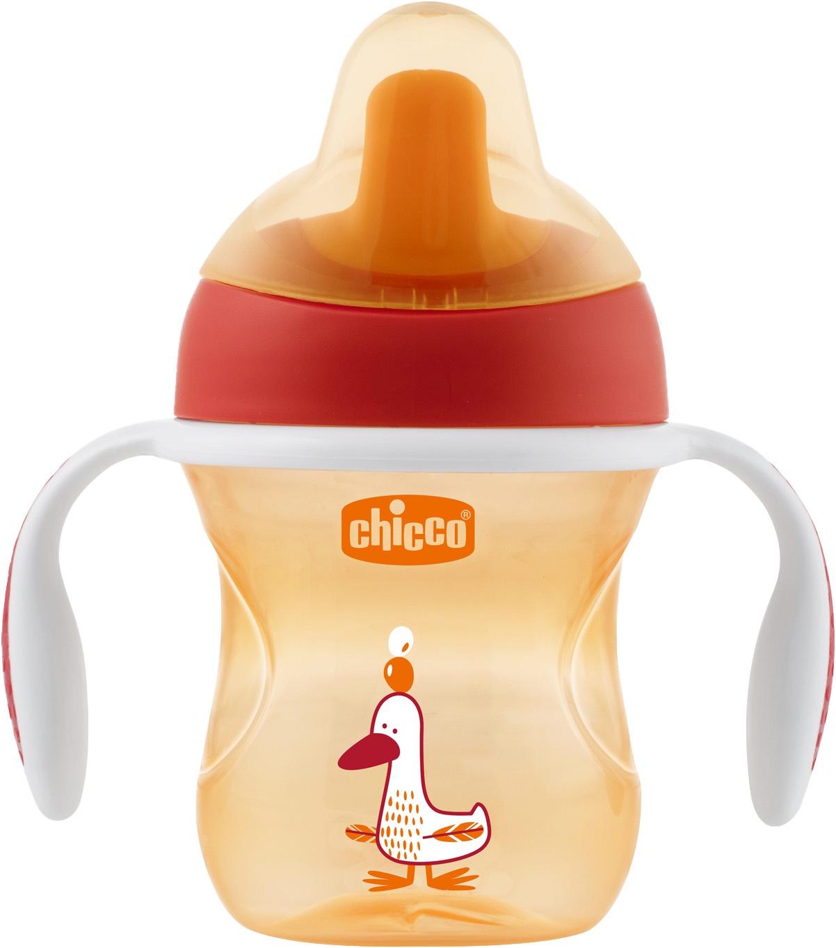 Поильник Chicco Training Cup (полужесткий носик) красный авент носик для чашек поильников с клапаном 6мес 2шт scf252 00