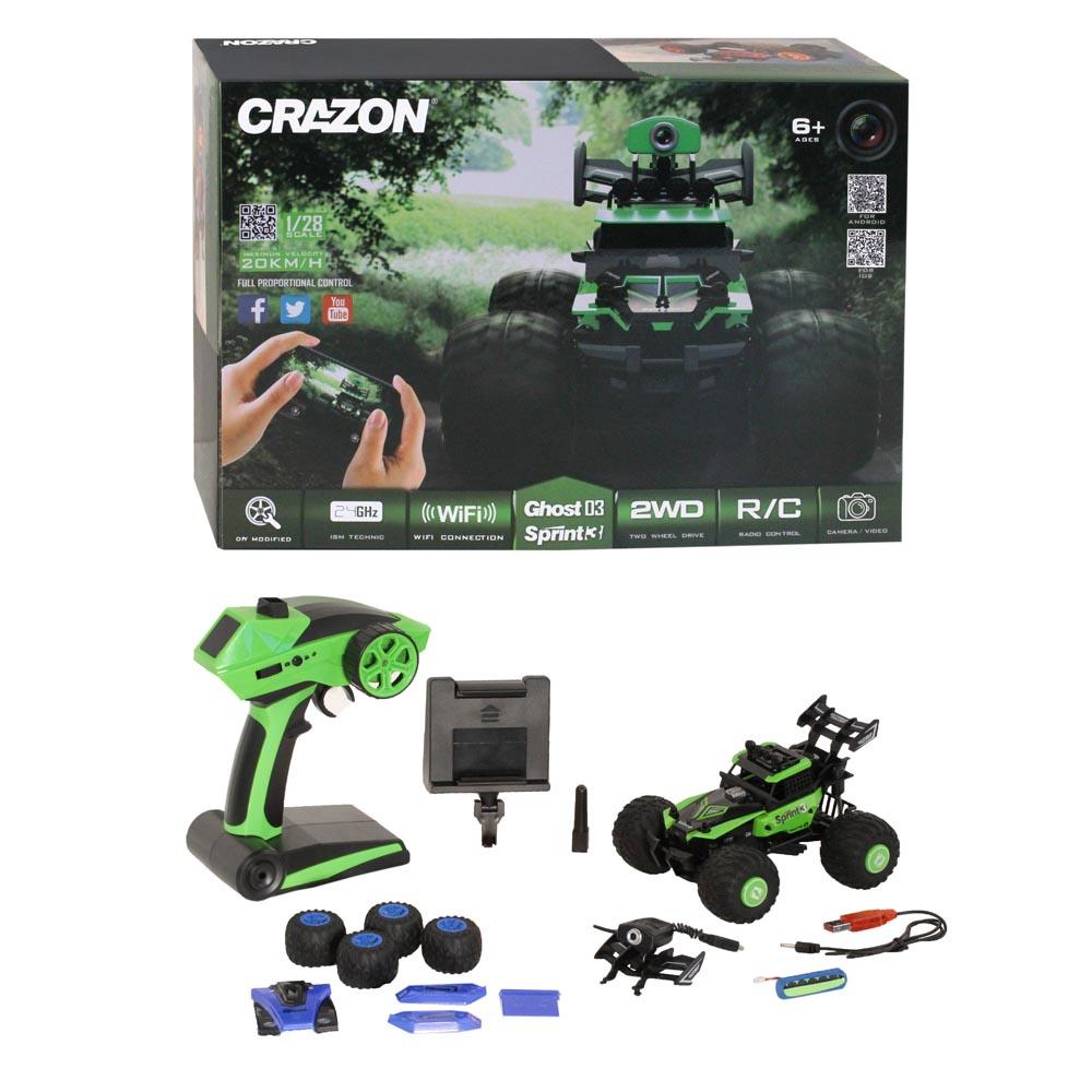 Машинка радиоуправляемая, CRAZON, скоростная машинка-багги (20км/ч), М1:28, 2.4GHz, с WIFI КАМЕРОЙ, 4 канала радиоуправляемая игрушка airhogs вертолёт с камерой черный