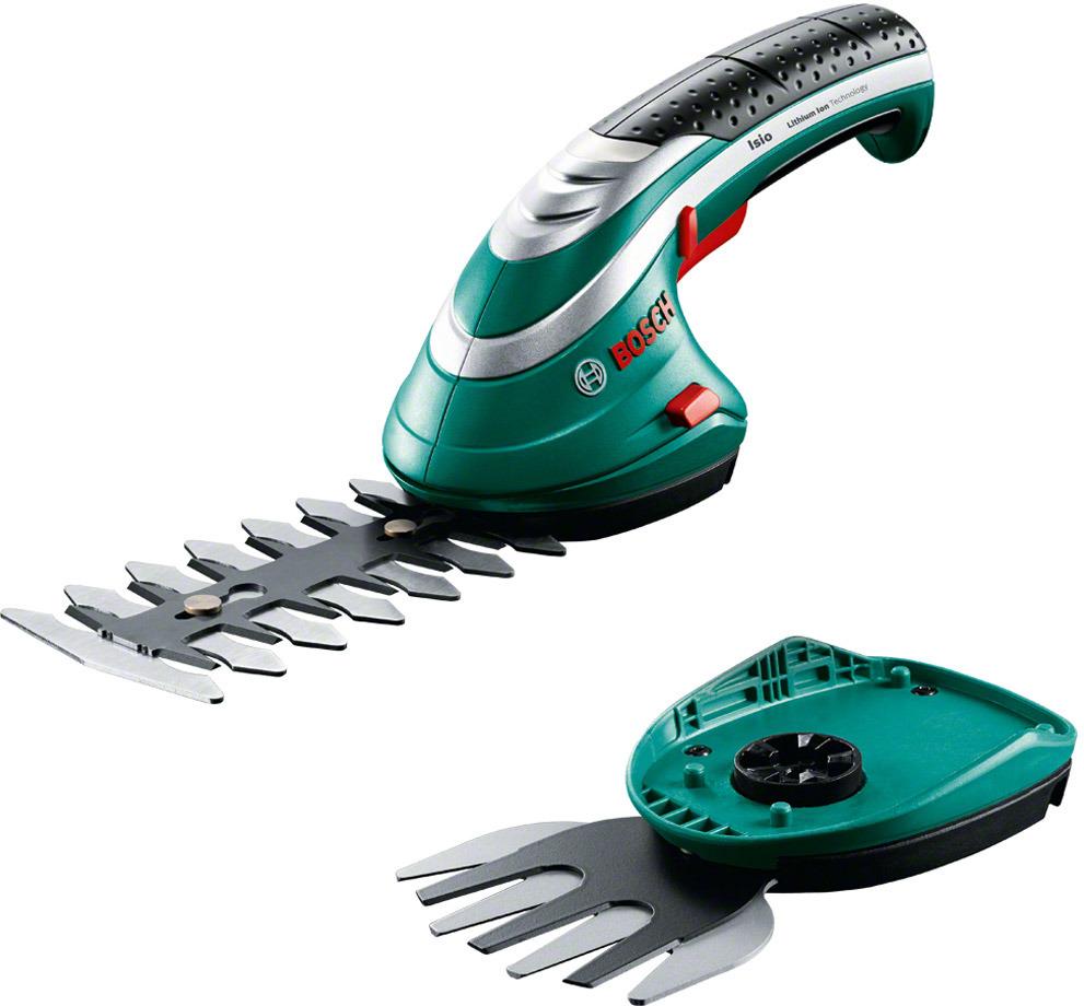 Аккумуляторные ножницы для травы Bosch ISIO 3+ чехол 0600833102 аккумуляторные ножницы bosch isio 3 для травы и кустов перчатки laura ashley 060083310m