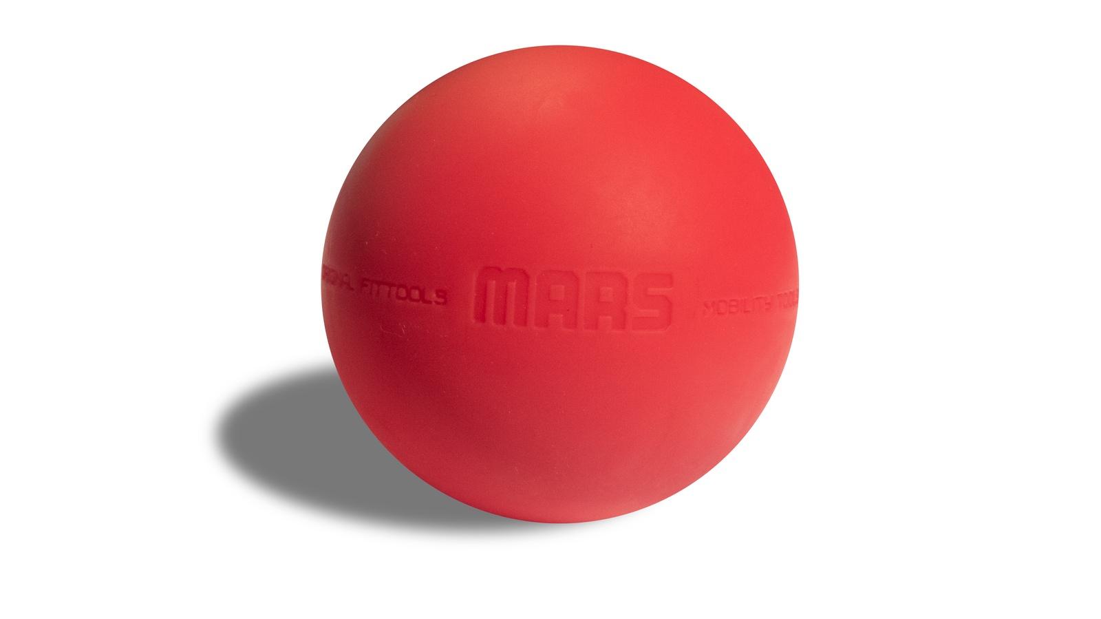 Мяч массажный Original FitTools FT-MARS, красный цена