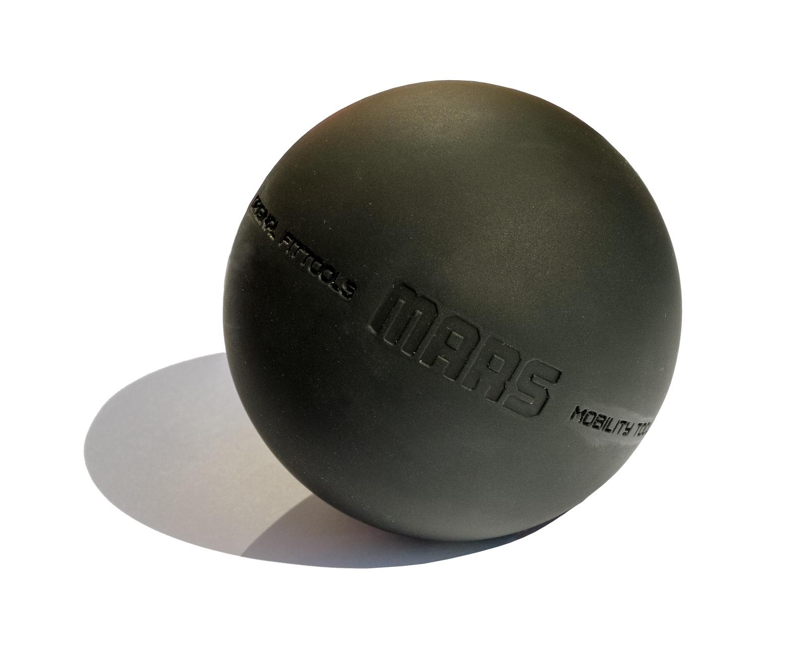 Мяч массажный Original FitTools FT-MARS, черный цена