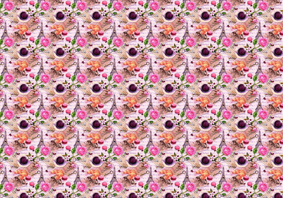 """Упаковочная бумага Бриз """"Кофейная тема"""", 1188-005, разноцветный, 70 х 100 см"""