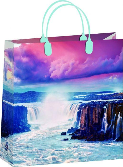 Подарочный пакет Bello Водопад, BAM 158, разноцветный, 30 х 30 см