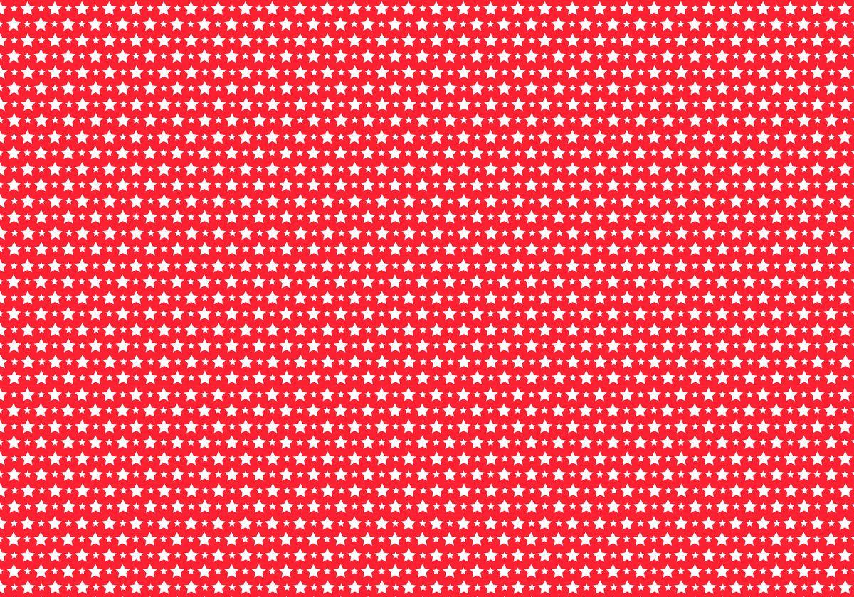 """Упаковочная бумага Бриз """"Белые звезды на красном"""", 1188-016, красный, 70 х 100 см"""