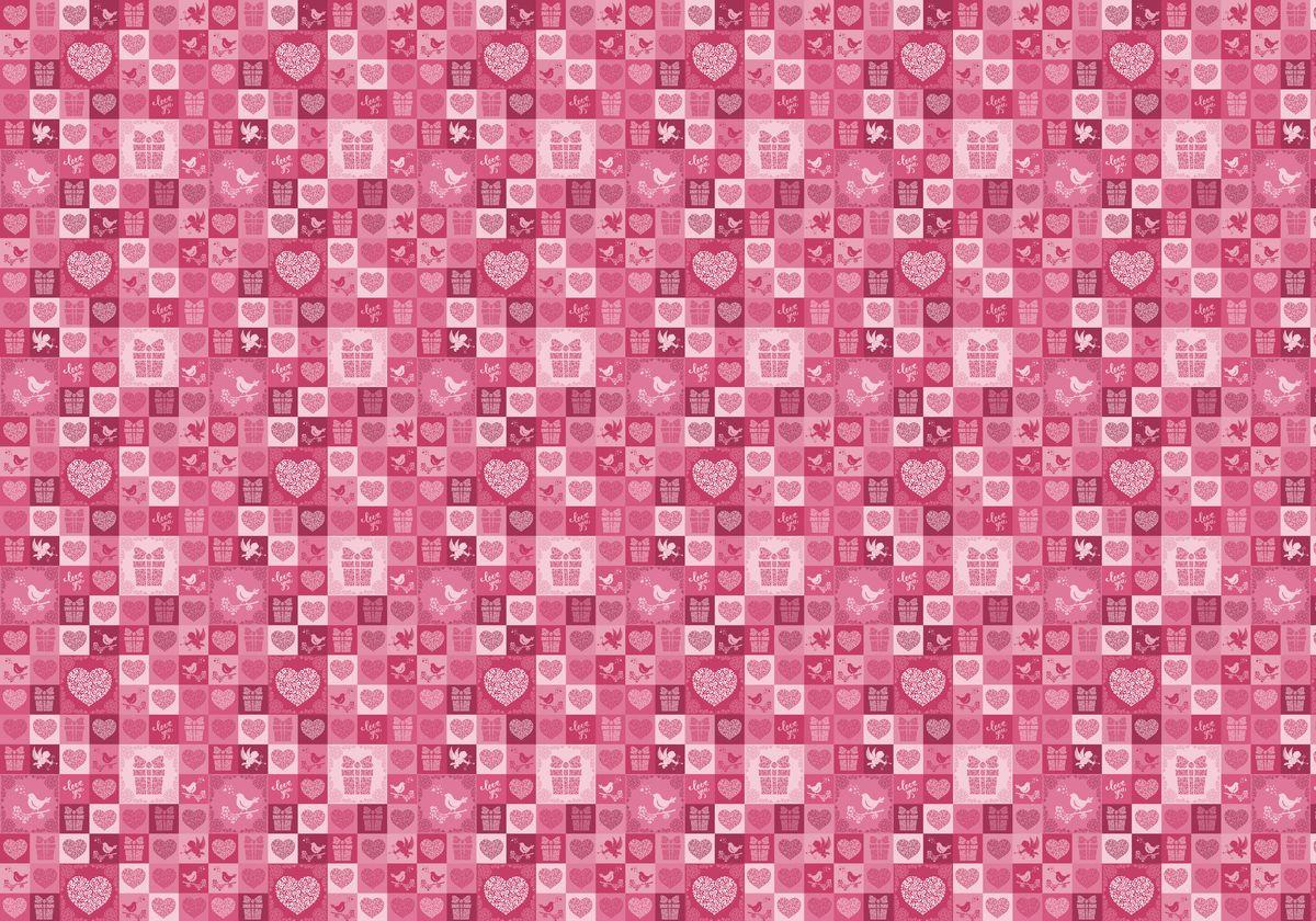"Упаковочная бумага Бриз ""Love you"", 1188-014, розовый, 70 х 100 см"