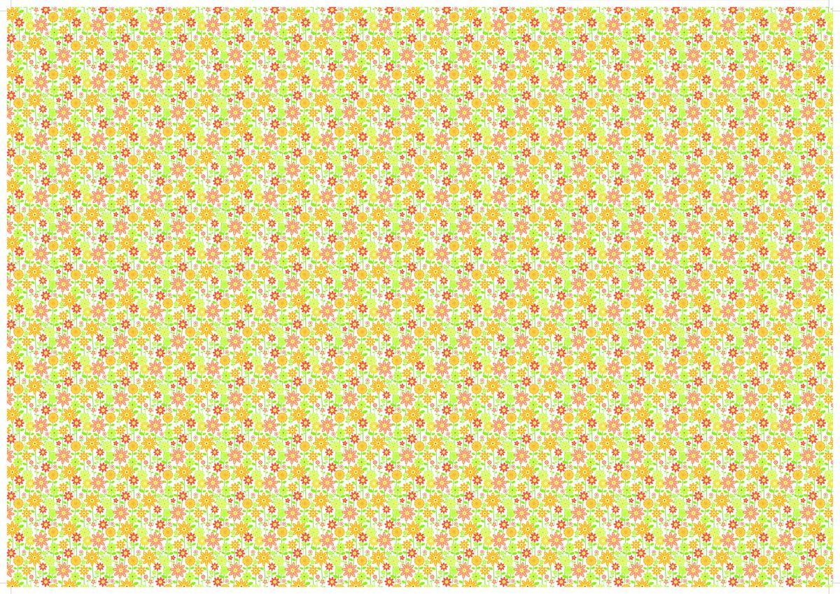 "Упаковочная бумага Бриз ""Цветы"", 1188-019, разноцветный, 70 х 100 см"