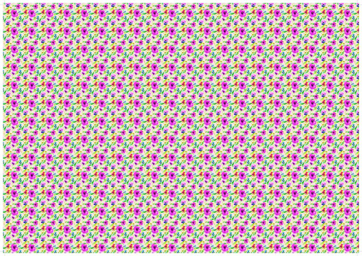 """Упаковочная бумага Бриз """"Цветы на розовом"""", 1188-003, разноцветный, 70 х 100 см"""
