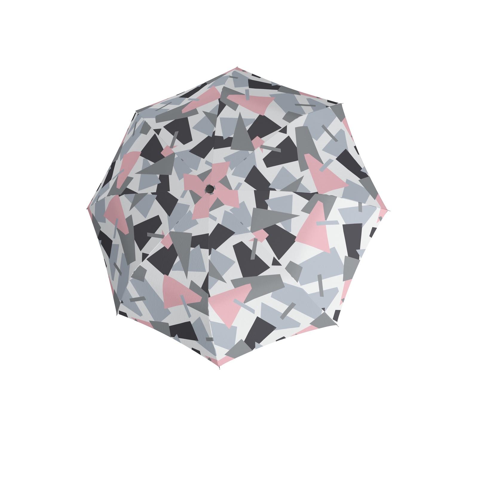 цена Зонт Doppler Crush, бежевый, серый, черный, черно-серый, розовый в интернет-магазинах