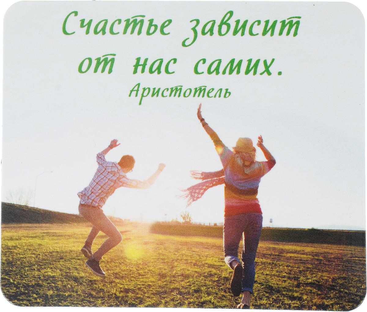 Магнит сувенирный Miland Счастье зависит от нас самих, Т-3313, мультиколор