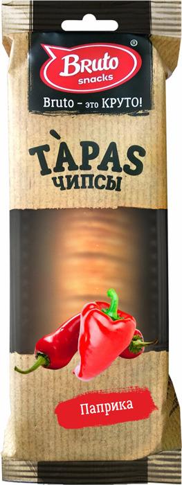 Чипсы BRUTO Tapas паприка, 75 г чипсы bruto тапас сметана лук 75