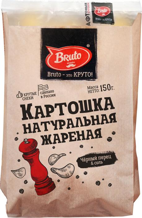 Картошка жареная BRUTO с перцем и солью, 150 г чипсы картофельные русская картошка колбаски гриль 150 г