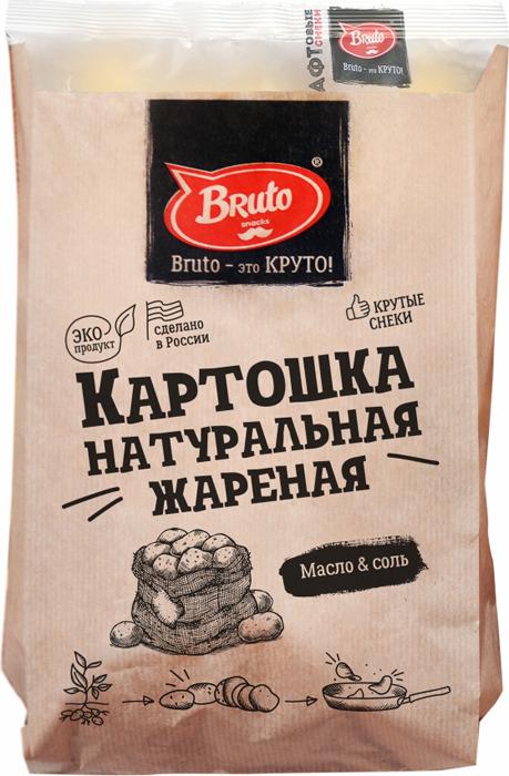 Картошка жареная BRUTO с солью, 70 г чипсы картофельные русская картошка креветки 50 г