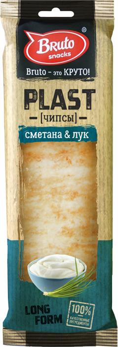 Чипсы BRUTO Plast сметана лук, 90 г чипсы картофельные русская картошка сметана и укроп 150 г