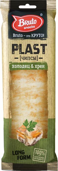 Чипсы BRUTO Plast холодец хрен, 90 г чипсы bruto тапас сметана лук 75
