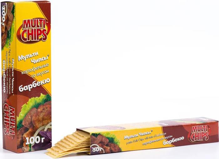 Чипсы Multichips со вкусом барбекю, 100 г