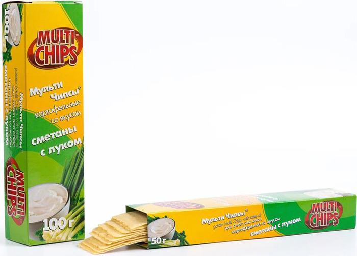 Чипсы Multichips со вкусом грибов со сметаной, 100 г dr oetker пикантфикс для грибов 100 г