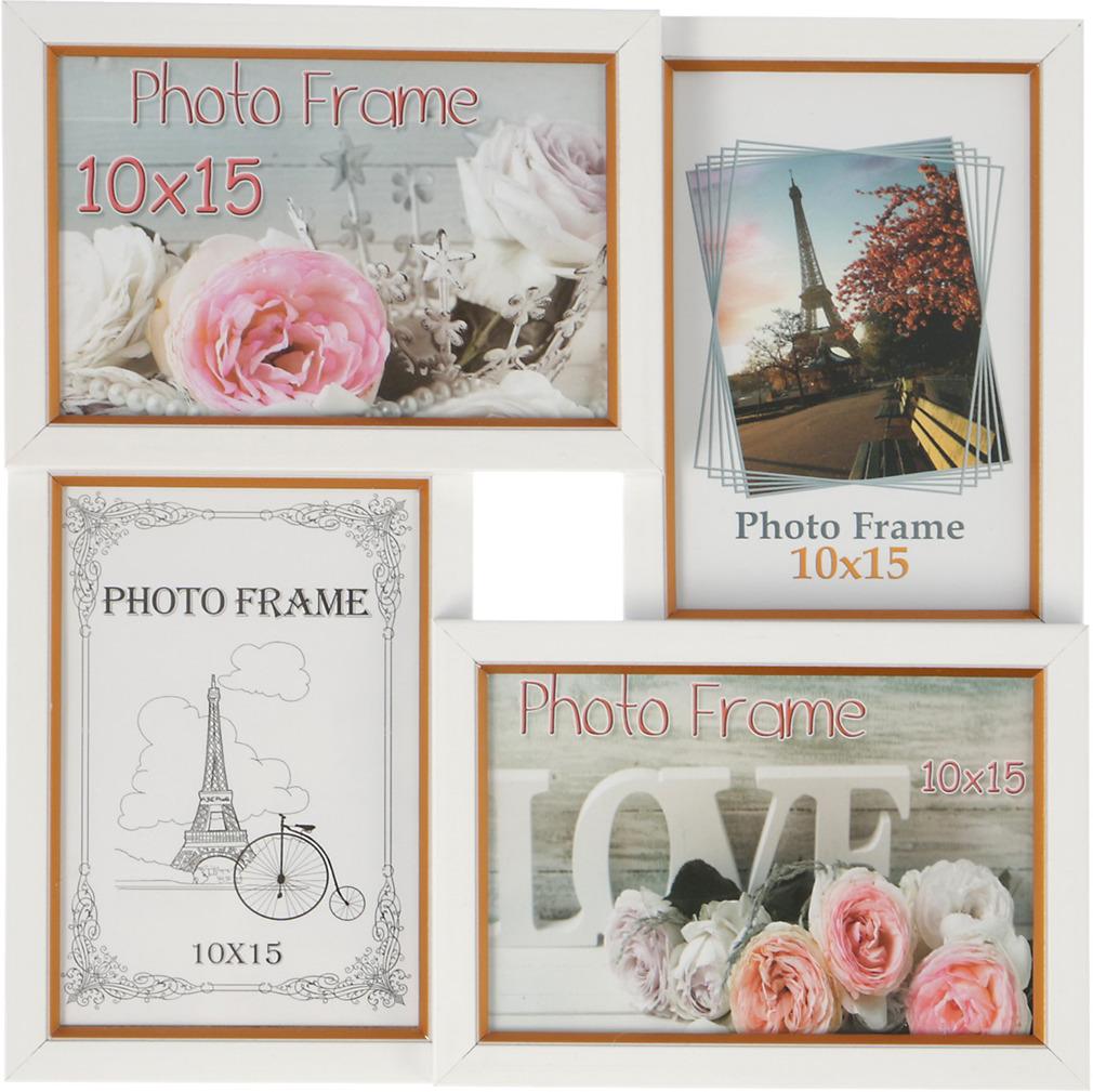 Фоторамка, на 4 фото, 3573197, белый, 29 х 29 см, размер фото 10 х 15 см украшения 30 х годов фото