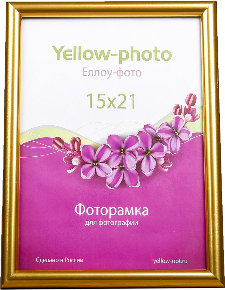 Фоторамка Радуга, 4199018, золотой, 23,2 х 17 х 1,5 см