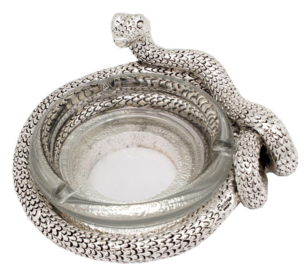 Пепельница Exetera argenti Змея, 46-408716, серебристый цена