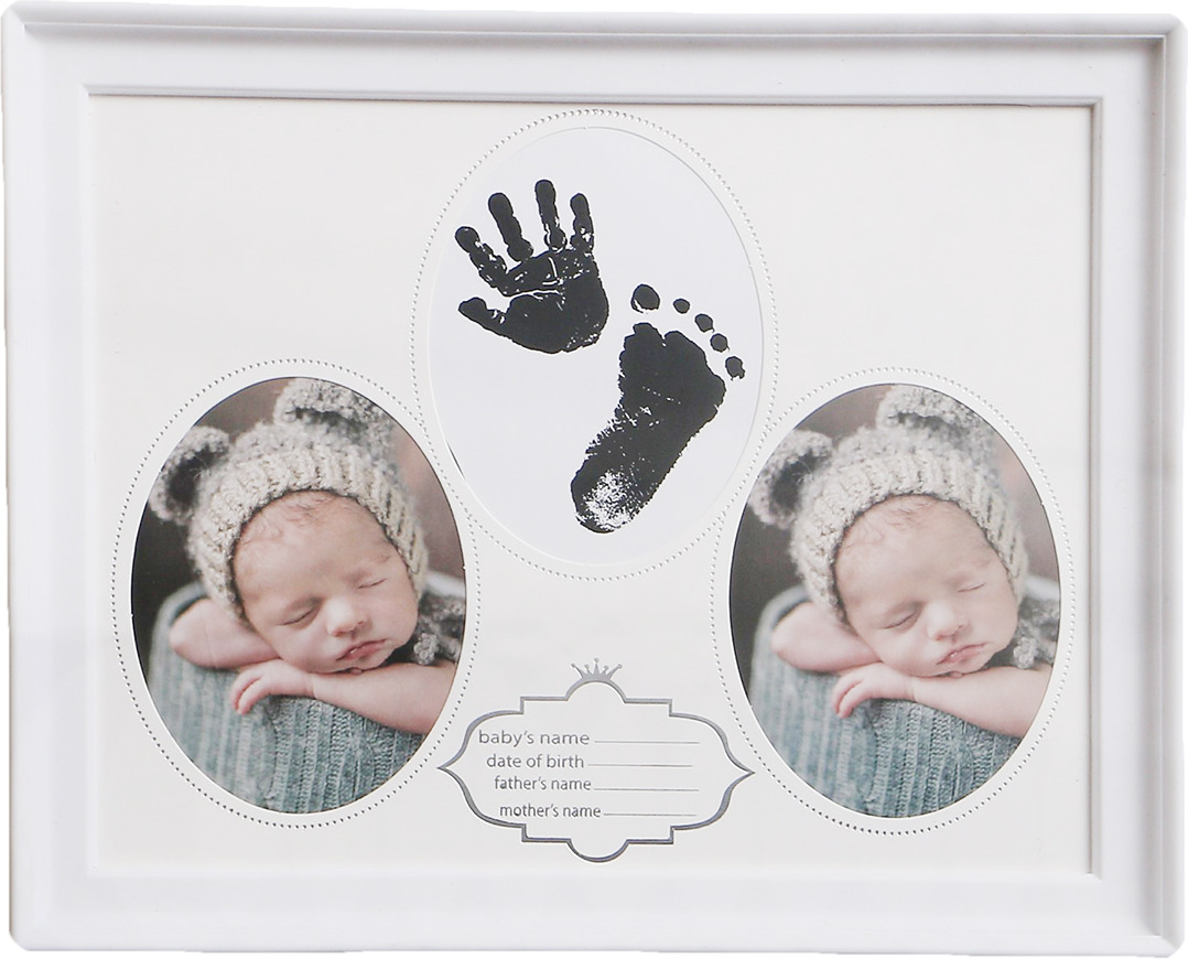 Фоторамка Малыш, на 2 фото, 3722048, белый, 28 х 24 х 2,5 см