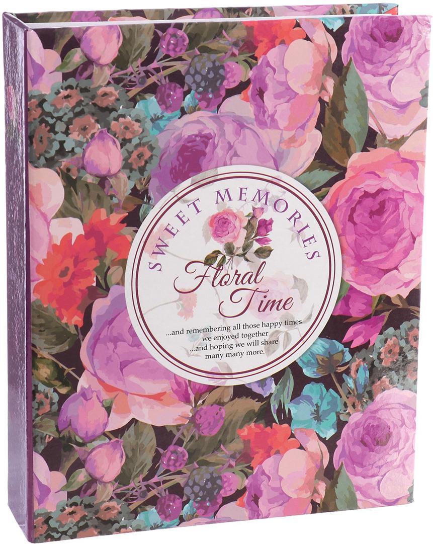 Фотоальбом Счастливые моменты Время цветов, 3217530, мультиколор, на 200 фото, 23 х 18 х 5,5 см фотоальбом время желаний