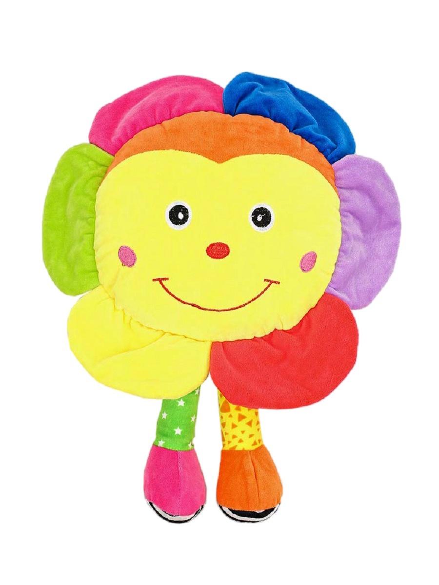 Мягкая игрушка TashaToys Игрушка мягкая. Солнышко с ножками. желтый, оранжевый