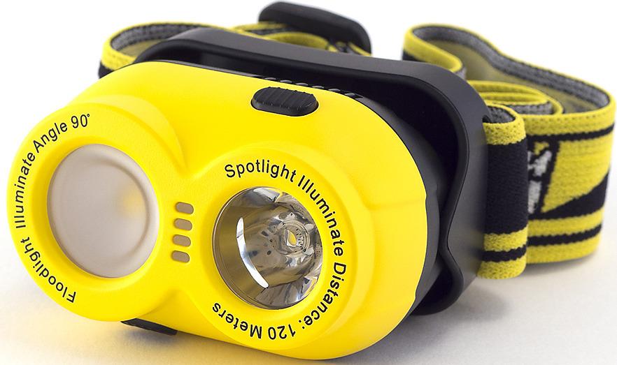 Налобный фонарь Яркий Луч Lemur LH-210, желтый
