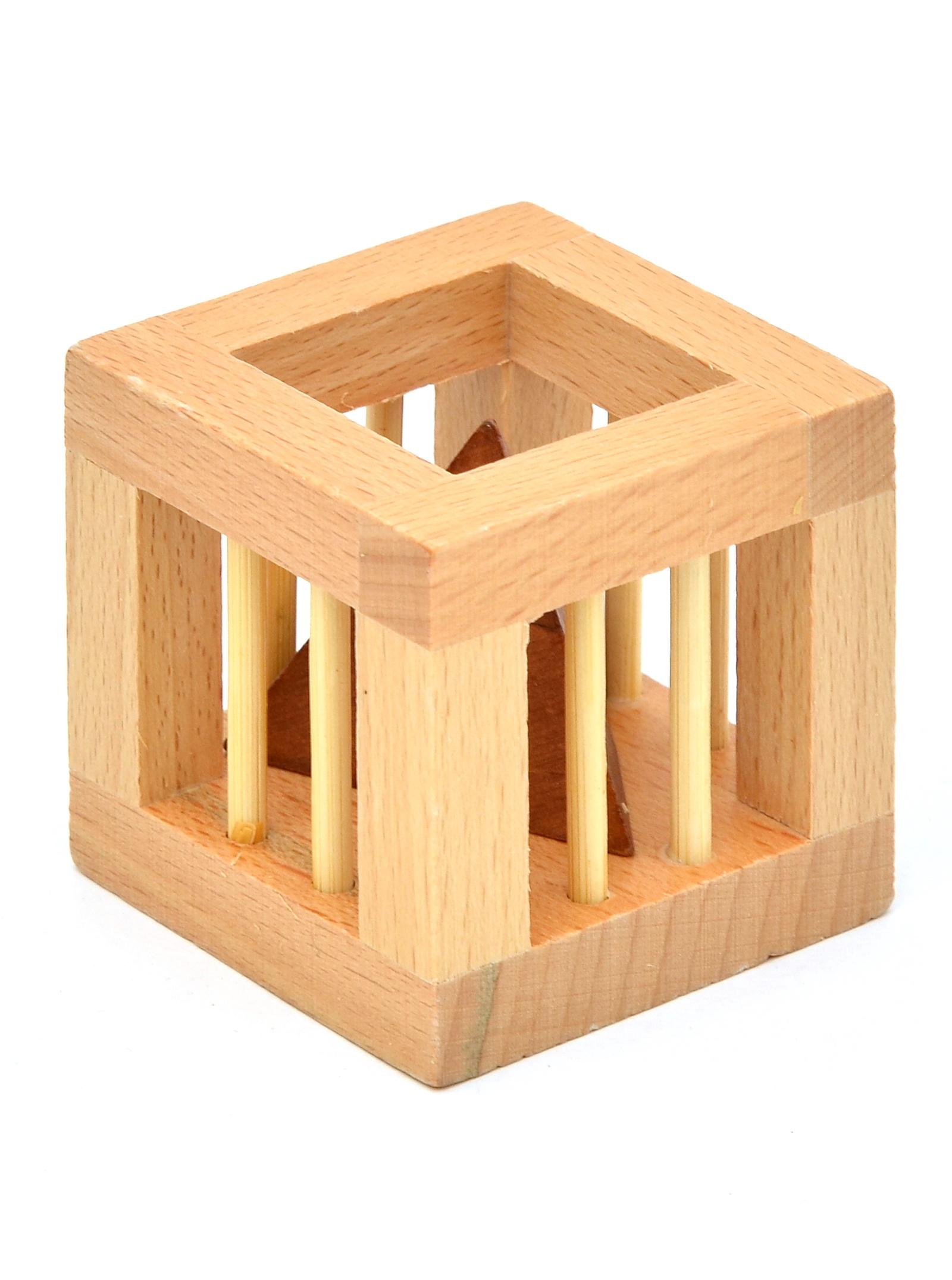 Головоломка Деревянная Клетка головоломка гудини thinkfun головоломка гудини