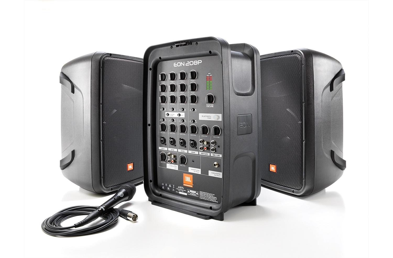 Комплект акустики JBL EON208P, черный комплект профессиональной акустики jbl eon one pro