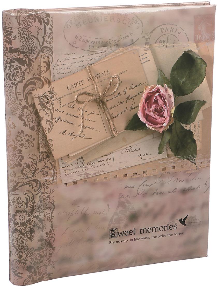 Фотоальбом Любовные письма Ретро, магнитный, 3217537, мультиколор, 20 листов, 25,5 х 20 х 2,8 см
