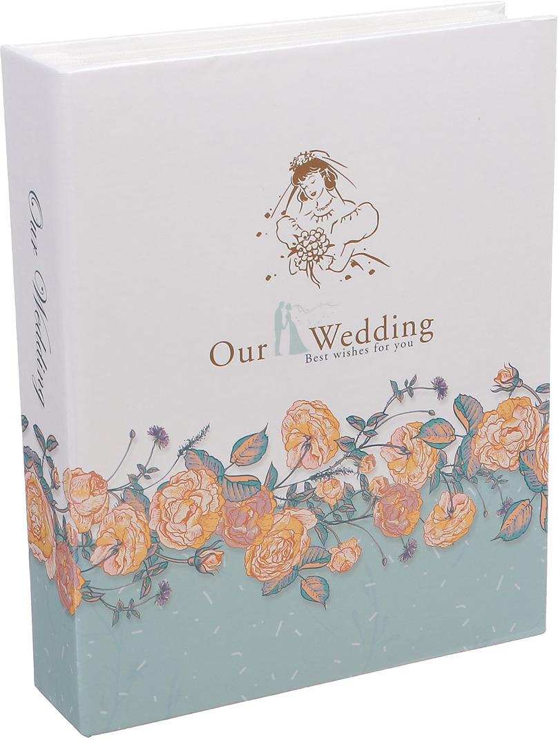 Фотоальбом Наша свадьба Цветочная изгородь, 3217499, мультиколор, на 200 фото, 23 х 18 5,5 см