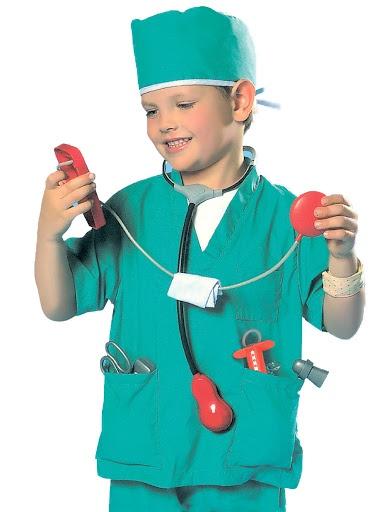 """Сюжетно-ролевые игрушки Город Игр костюм """"Важная профессия"""" - """"Добрый доктор"""" хирург бирюзовый"""