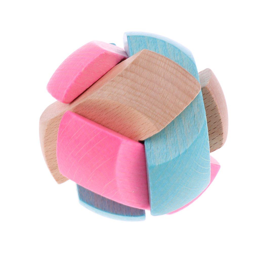 Головоломка Деревянная Футбольный Мяч разноцветный, розовый, голубой, светло-коричневый