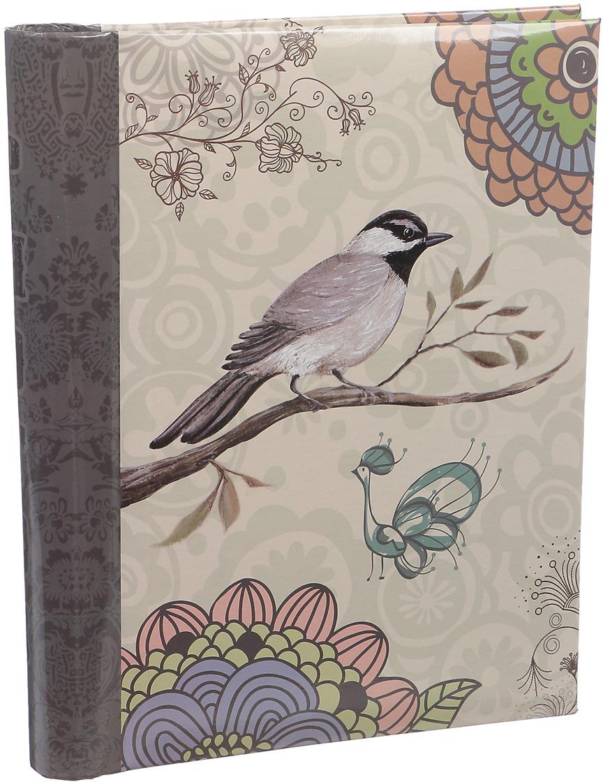 Фотоальбом Птица на ветке Мандала, магнитный, 3217535, мультиколор, 20 листов, 25,5 х 20 х 2,8 см