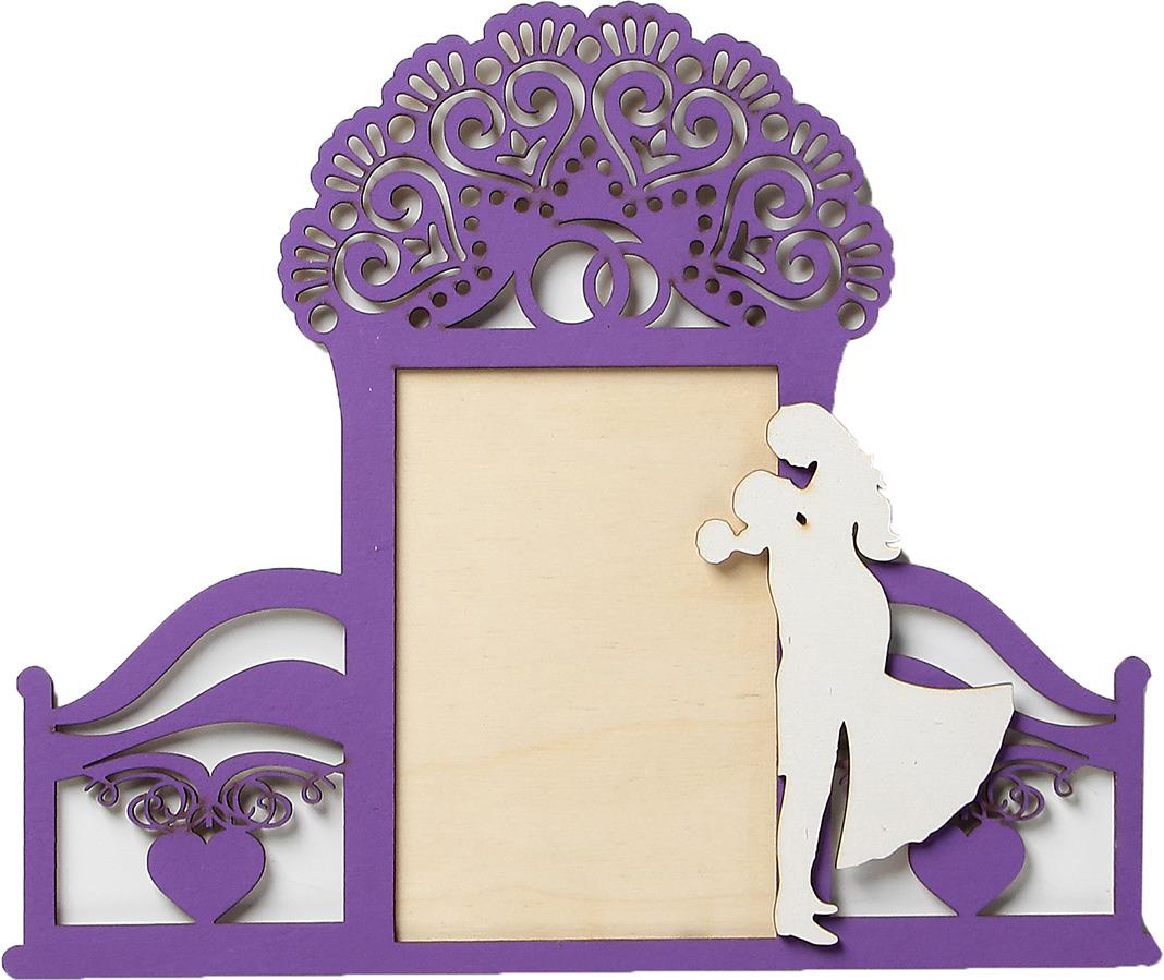 Фоторамка Свадьба 2, 3940573, фиолетовый, 30 х 25 см