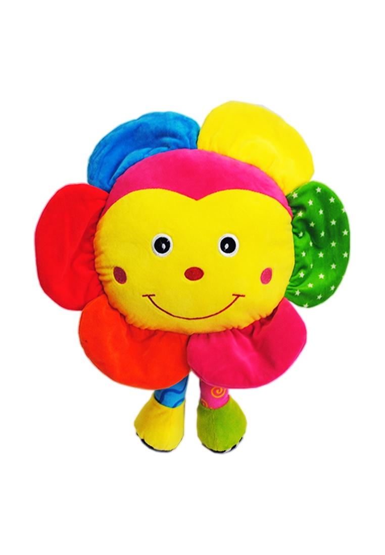 Мягкая игрушка TashaToys Игрушка мягкая. Солнышко с ножками. желтый, розовый