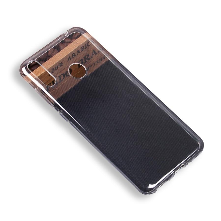 Чехол для сотового телефона силиконовый для Huawei Honor 8C, прозрачный