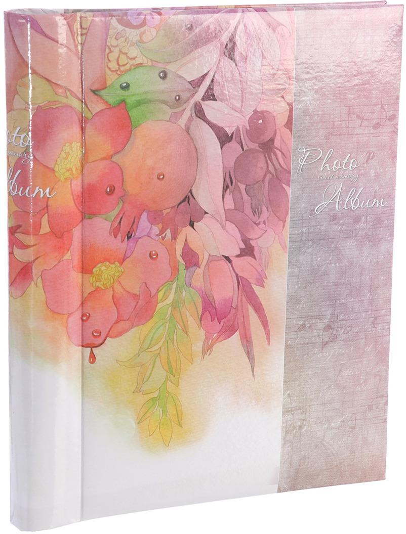 Фотоальбом Акварельные цветы, магнитный, 3217540, мультиколор, 20 листов, 25,5 х 20 х 2,8 см