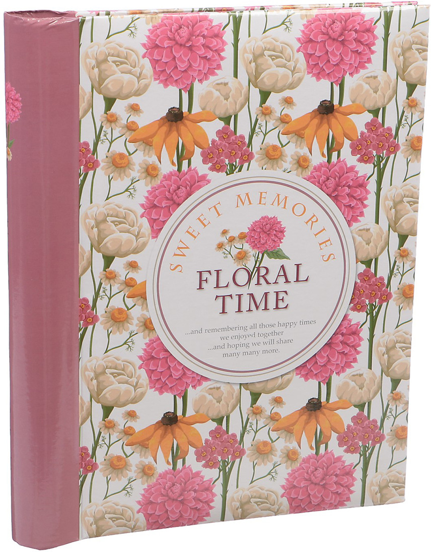 Фотоальбом Счастливые моменты Время цветов, магнитный, 3217538, мультиколор, 20 листов, 25,5 х 20 х 2,8 см